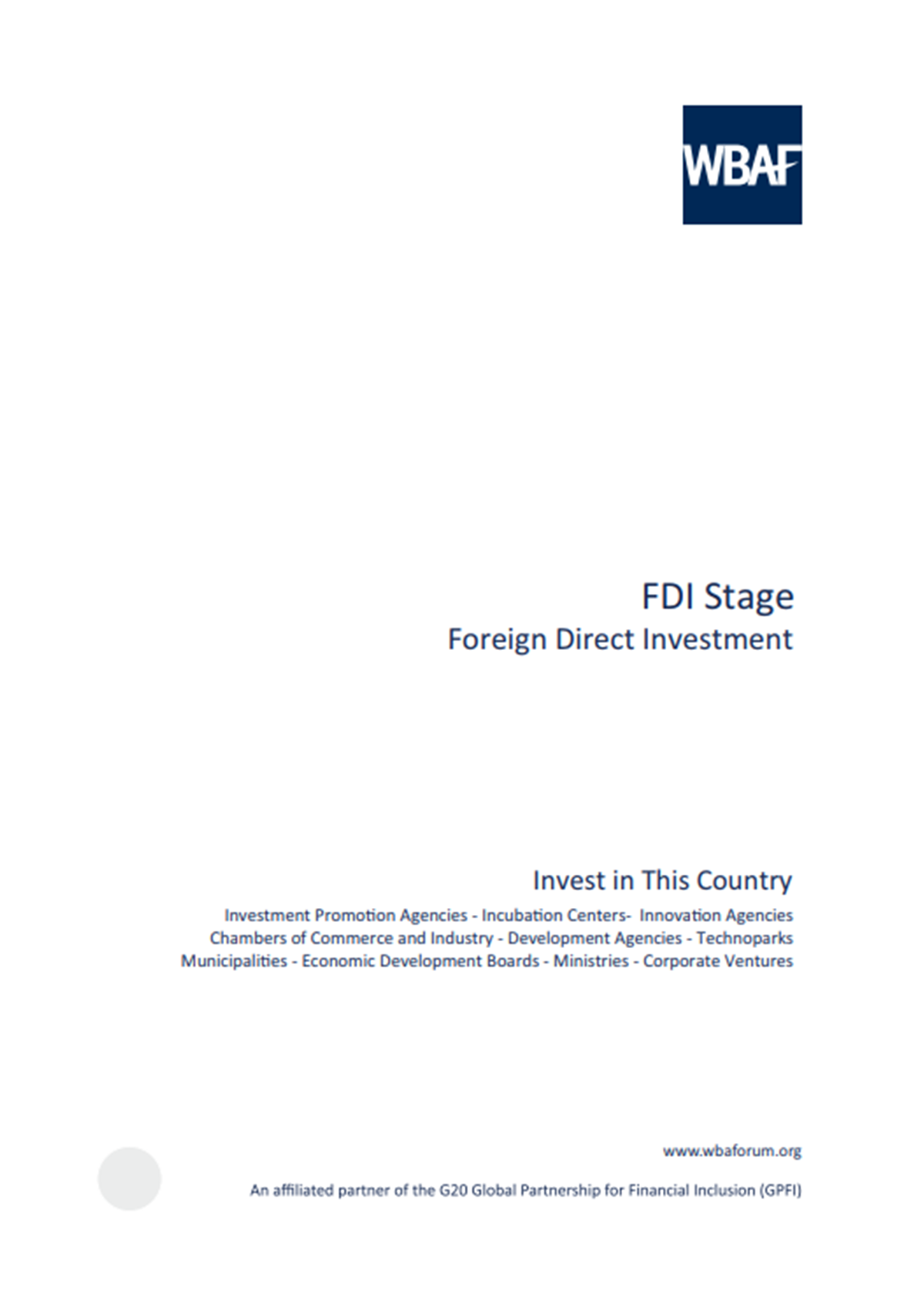 FDI Stage - Foreign Direct Investment